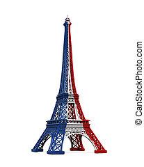 wieża,  Eiffel, odizolowany