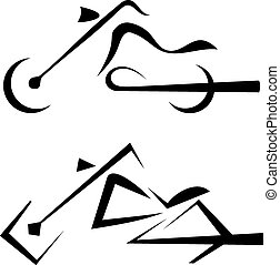 motorbike symbol, tattoo