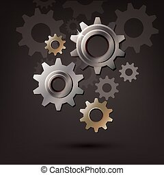 machine gear wheel cogwheel vector icon