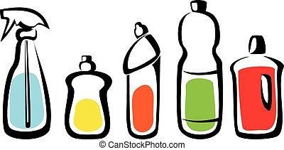 Cleaning bottles clip art - photo#26