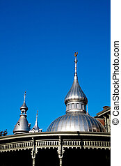 Parapets on Old Historical Building, in Tampa FL - Silver...