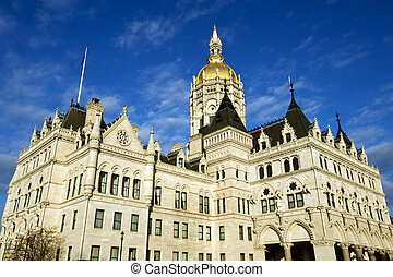 State capitol in Hartford, CT - Connecticut state capitol...
