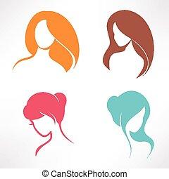 haircut icons set