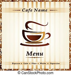 Template for  restaurant's Menu, cafe, bar, coffeehouse