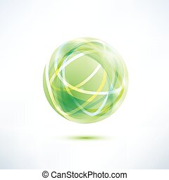 abstract green globe icon
