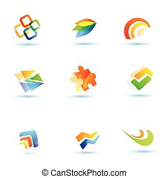 abstract icons set