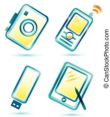 digital multimedia icons