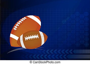 Background of American Football and rugby sports Vector...