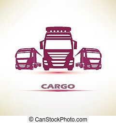 truck outlined vector symbol