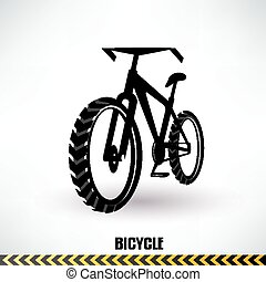 mountain bike vector symbol