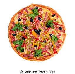 Tasty Italian pizza.Neapolitan isolated