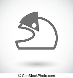 Motorcycle Helmets - Motorcycle helmet. Single flat icon on...