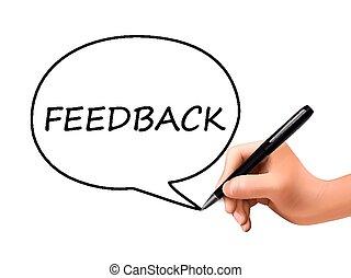 feedback word in speech bubble