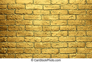 golden brick wall background