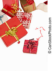 Christmas presents - On white background