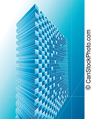 Blue Structure Abstract - Blue structure abstract design,...