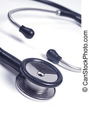 medical stethoscope isolated close up - medical stethoscope...