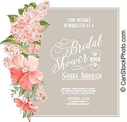Bridal shower card. - Bridal shower card background of...