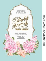 Bridal shower card. - Bridal shower card background of...