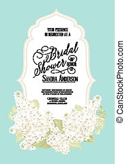 Bridal shower card. - Bridal shower card background of white...