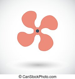 Fan single icon - Fan Single flat icon on white background...