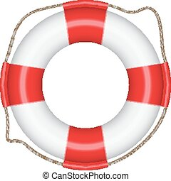 Lifebuoy isolated on white. EPS10 vector
