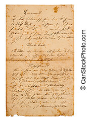 old handwritten family recipe from ca. 1900 - old...