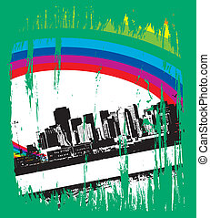 urban grunge city - abstract urban grunge city background...