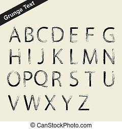 grunge letter symbol - scalable grunge alphabet font -...