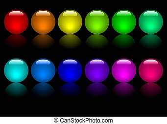 Coloured Balls - Set of coloured balls Available in jpeg and...