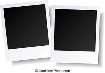 Blank Photos - Illustration of two balnk photos. Available...