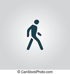 Pedestrian symbol - Pedestrian Flat web icon, sign or button...