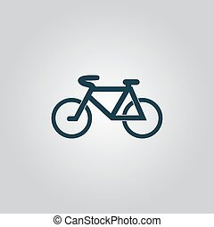 Mountain bike. Flat web icon, sign or button isolated on...