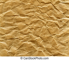 Packing paper - Textured striped crumpled packaging brown...