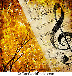 Autumnal Melody - Artwork in Retro Style