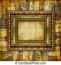 Vintage Egyptian Background - Artwork in Retro Style.