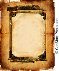 Background With Frame Paper. - Artwork in Retro Style.