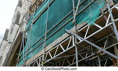 Part of Westminster Abbey is under construction There are...