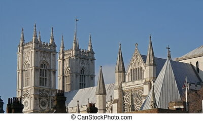 The top view of the Westminster Abbey church in London It is...