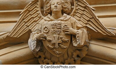An angel sculpture from Westminster Abbey The sculpture is a...