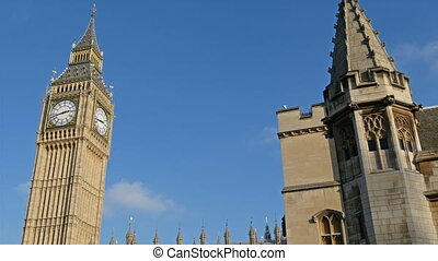 The Big Ben or tower clock in London Located in Westminster...