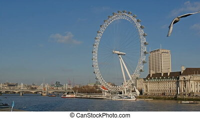 The beautiful scenic view of the London Eye It is a tourist...