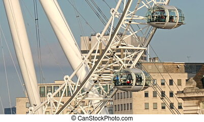 The huge carousel called the London Eye The London Eye is a...