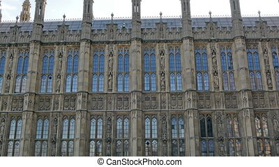 The Palace of Westminster in London It is a tourist...