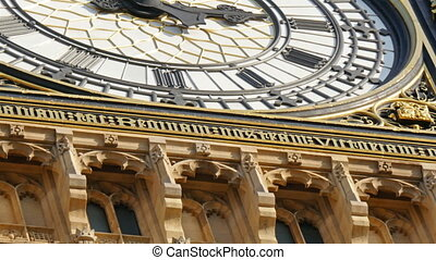 The beautiful structures from the wall of Big Ben Sculptures...