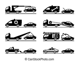 Emergency situations on road - vector illustration
