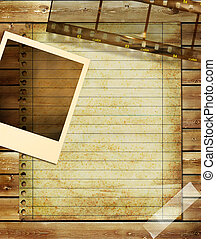 Artistic Background With Frame And - Artwork in Retro Style....