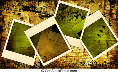 Abstract Background - Artwork in Retro Style.Background With...