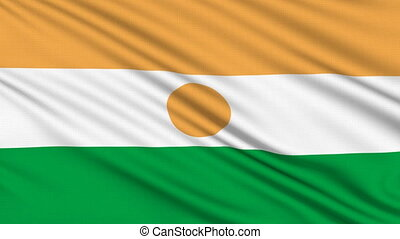 Niger Flag, with real structure of a fabric