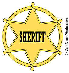 gold star sheriff badge from the old west - gold star...